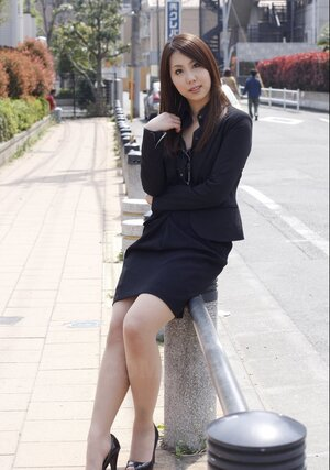 Japanese business female decides to make some sexy photos for social networks