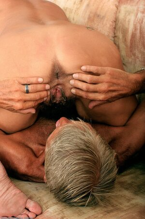 Interesting mature adult entertainment actress serves mature dude mainly in sixty-nine sex position